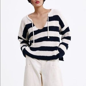 Zara Striped Knit Sweater Sz:M